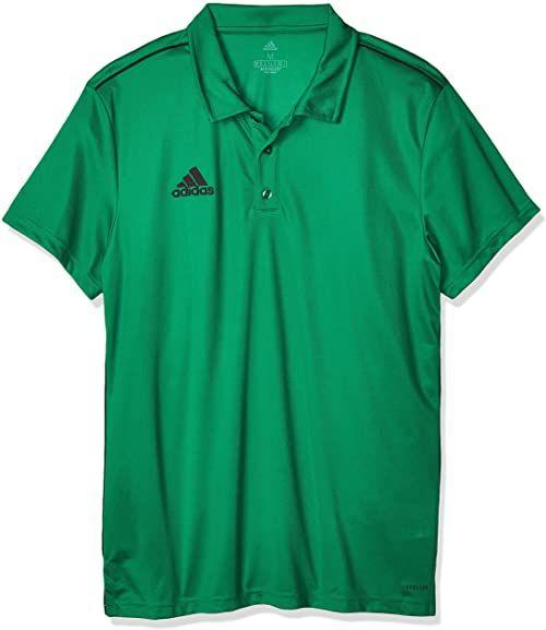 Adidas męska koszulka polo Core 18, pogrubiona zielona/czarna, S
