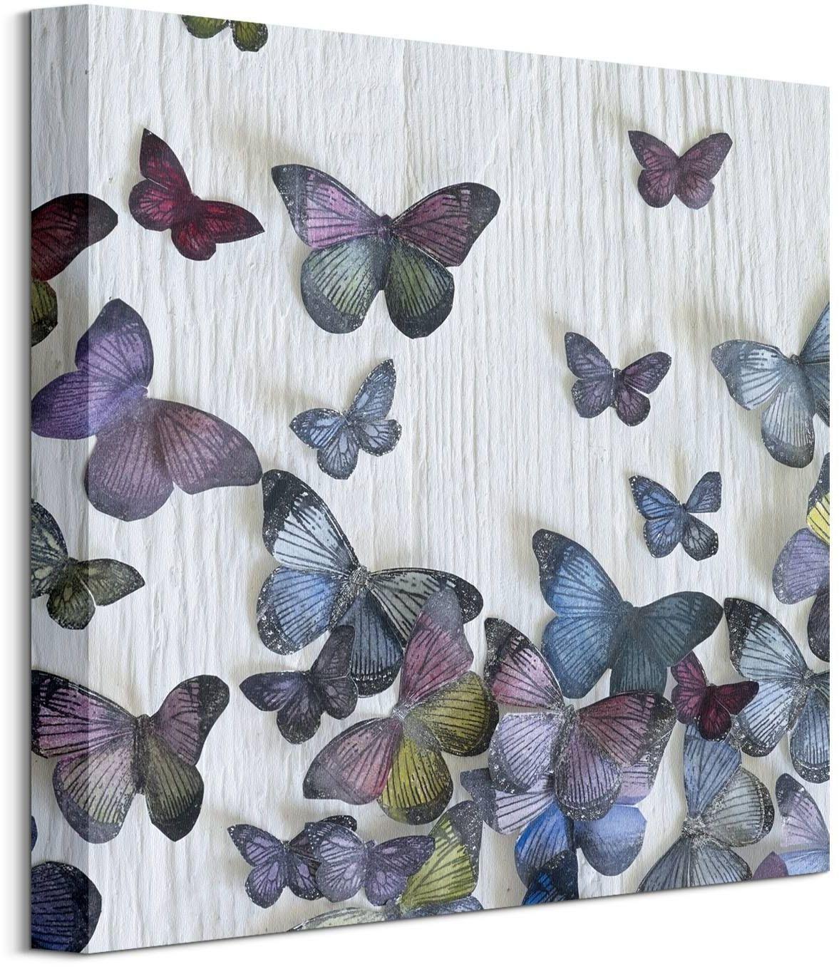Kolorowe motyle - obraz na płótnie