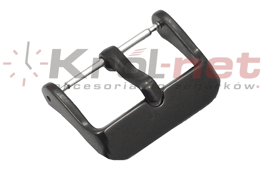 Sprzączka / klamerka czarna - 16, 18, 20, 22 mm, polerowana