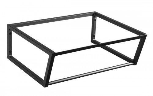 LOFT Wspornik umywalki 60x46cm, czarny matowy SKA