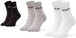Zestaw 3 par wysokich skarpet unisex Reebok - Act Core Mid Crew Sock 3P GC8669 MGreyh/Black/White