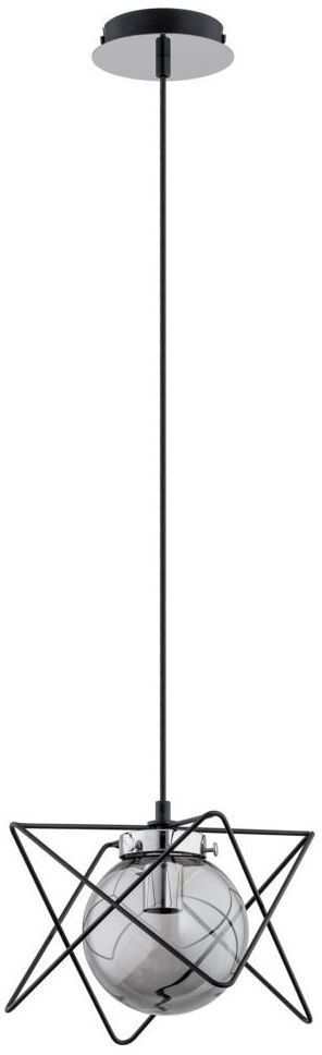 Lampa wisząca SAGITO TRACK czarna z chromem E14 ALFA