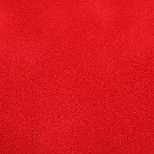 Venilia Folia samoprzylepna Velvet o wyglądzie aksamitu czerwona, folia welurowa, folia dekoracyjna, folia do mebli, tapety, folia samoprzylepna, PCW, 140 m (grubość: 0,14 mm), 53197, 67,5 cm x 1 m