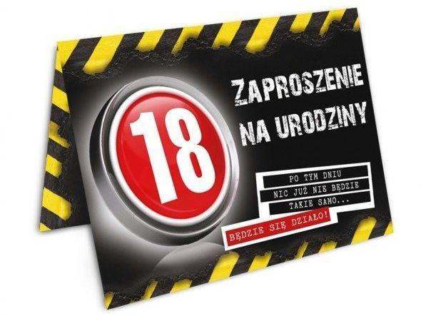 Zaproszenie na 18 urodziny Danger z kopertą 1szt. ZX8902