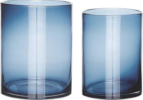 Wazon hübsch cylinder niebieski 2 szt.