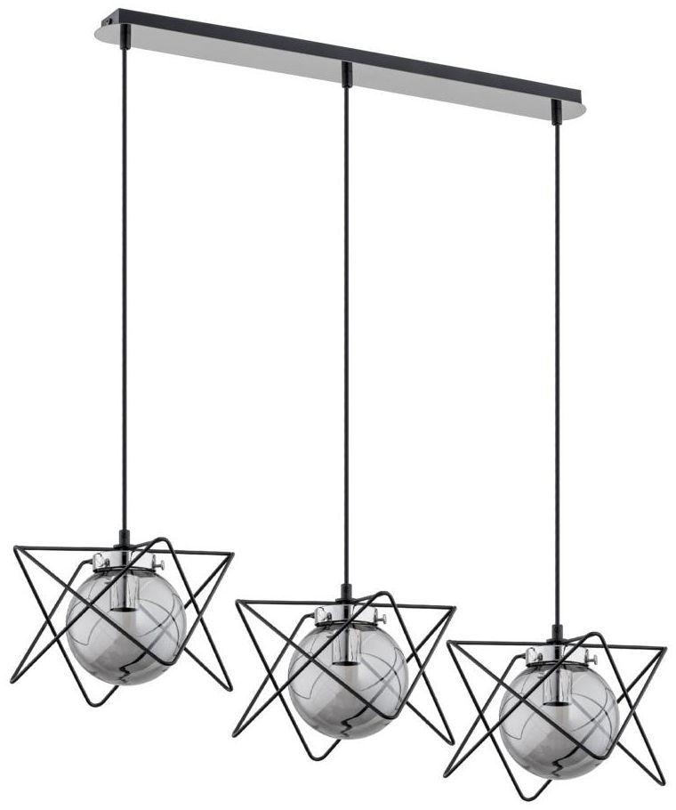 Lampa wisząca SAGITO TRACK czarna z chromem 3 x E14 ALFA