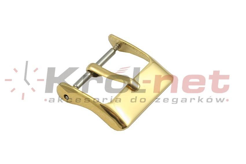 Sprzączka / klamerka żółta - 14, 16, 18, 20, 22 mm, polerowana