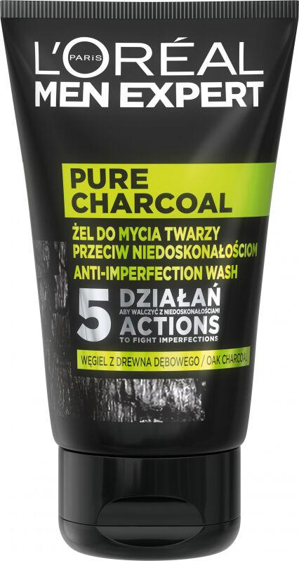 L''Oréal - MEN EXPERT - PURE CHARCOAL - Żel do mycia twarzy przeciw niedoskonałościom dla mężczyzn