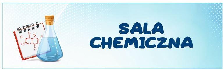 Naklejka na Drzwi Sala Chemiczna