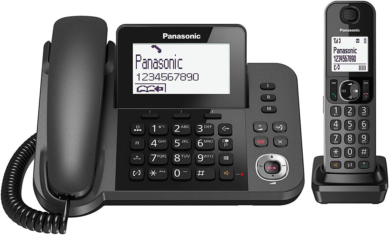 Panasonic KX-TGF320 EXM Telefon przewodowy z bazą DECT i słuchawką bezprzewodową