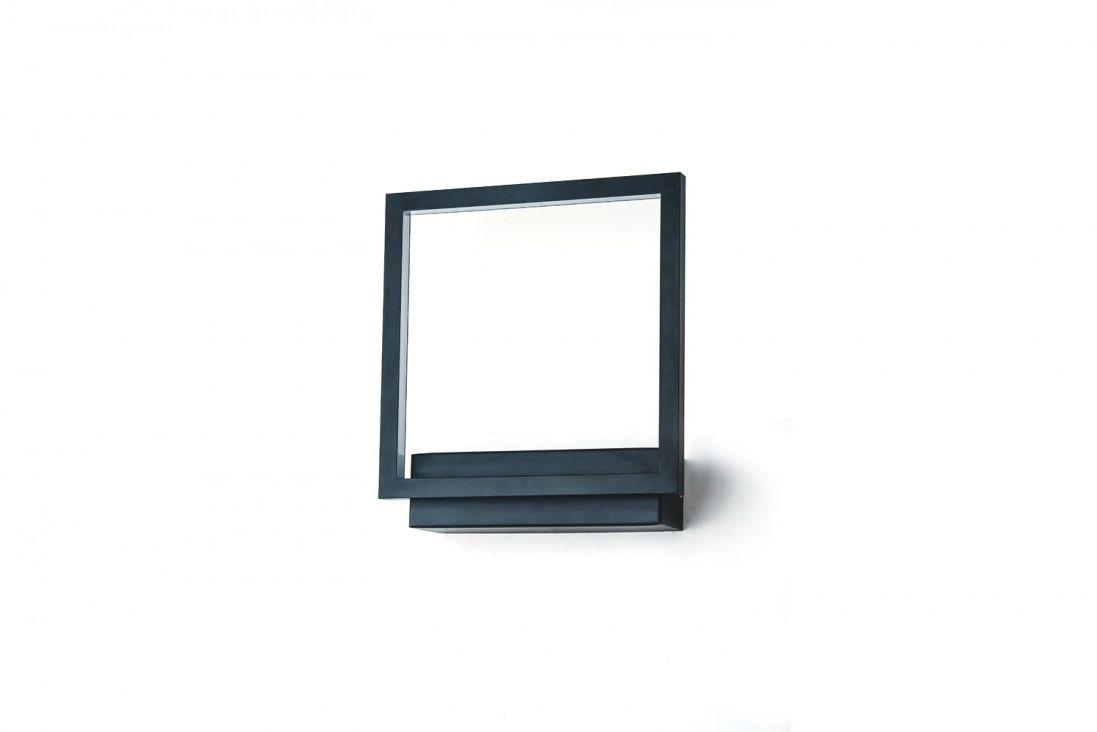 Kinkiet Opera AZ3141 AZzardo kwadratowa czarna oprawa ścienna