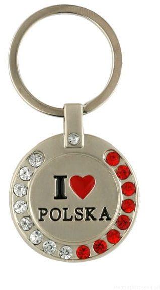 "Brelok z cyrkoniami, ""I love Polska"""