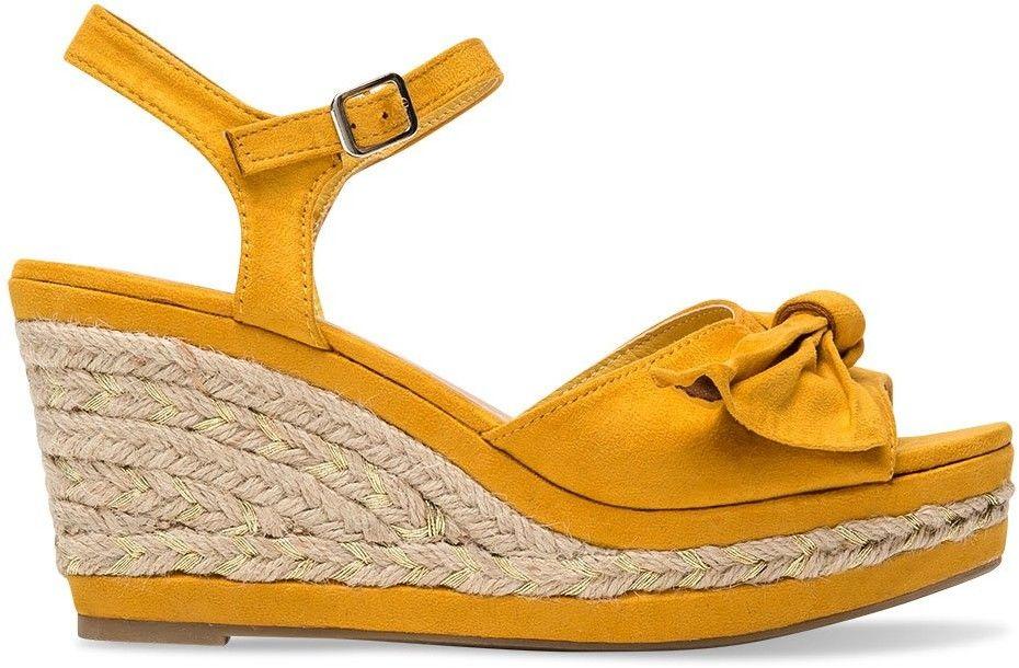 Sandałki damskie Belle Women 1819 Żółte