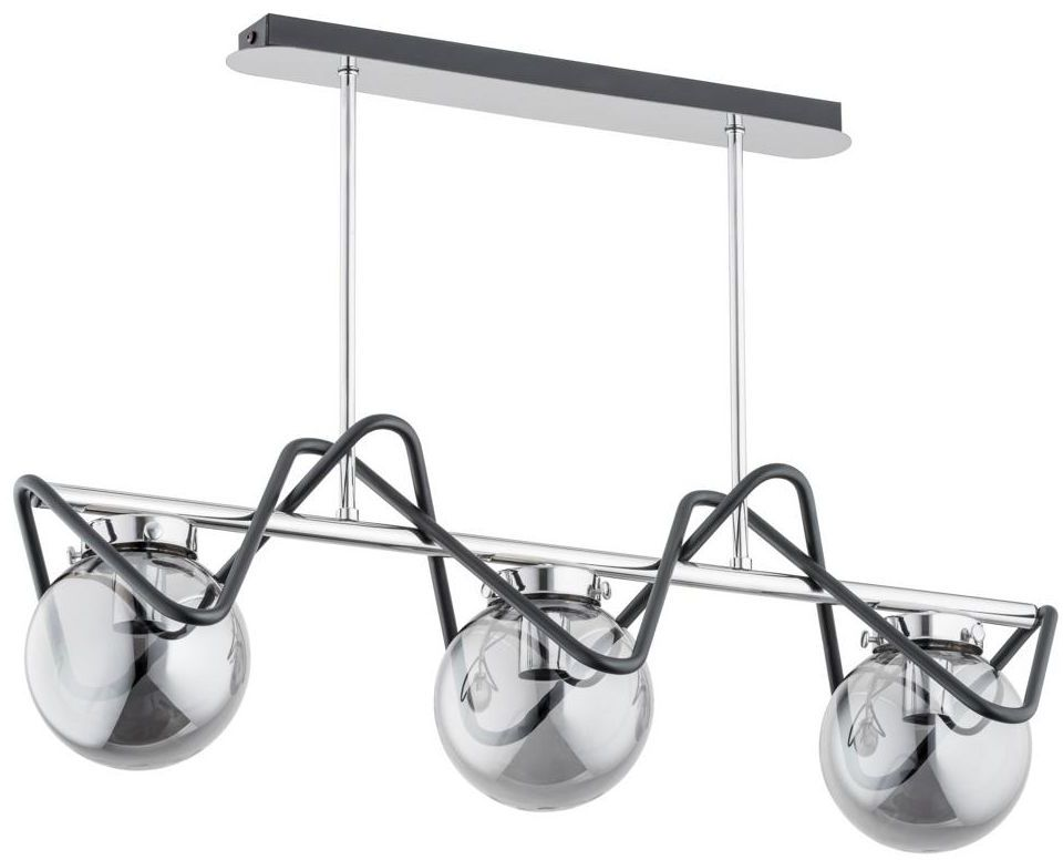 Lampa wisząca SAGITO PONTE czarna z chromem 3 x E14 ALFA