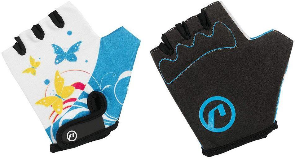 Rękawiczki dziecięce Accent Daisy biało-niebieskie