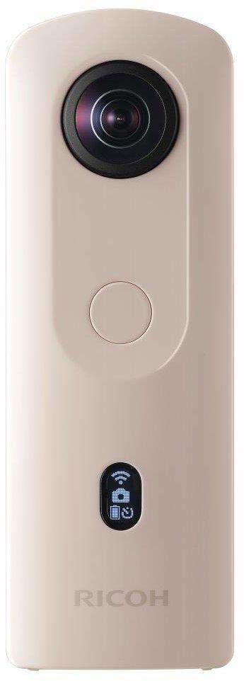 RICOH THETA SC2 BEIGE 360 Camera 4K film ze stabilizacją obrazu Wysoka jakość obrazu Szybki transfer danych Piękny widok nocny z niskim poziomem hałasu cienki i lekki dla iOS, Android