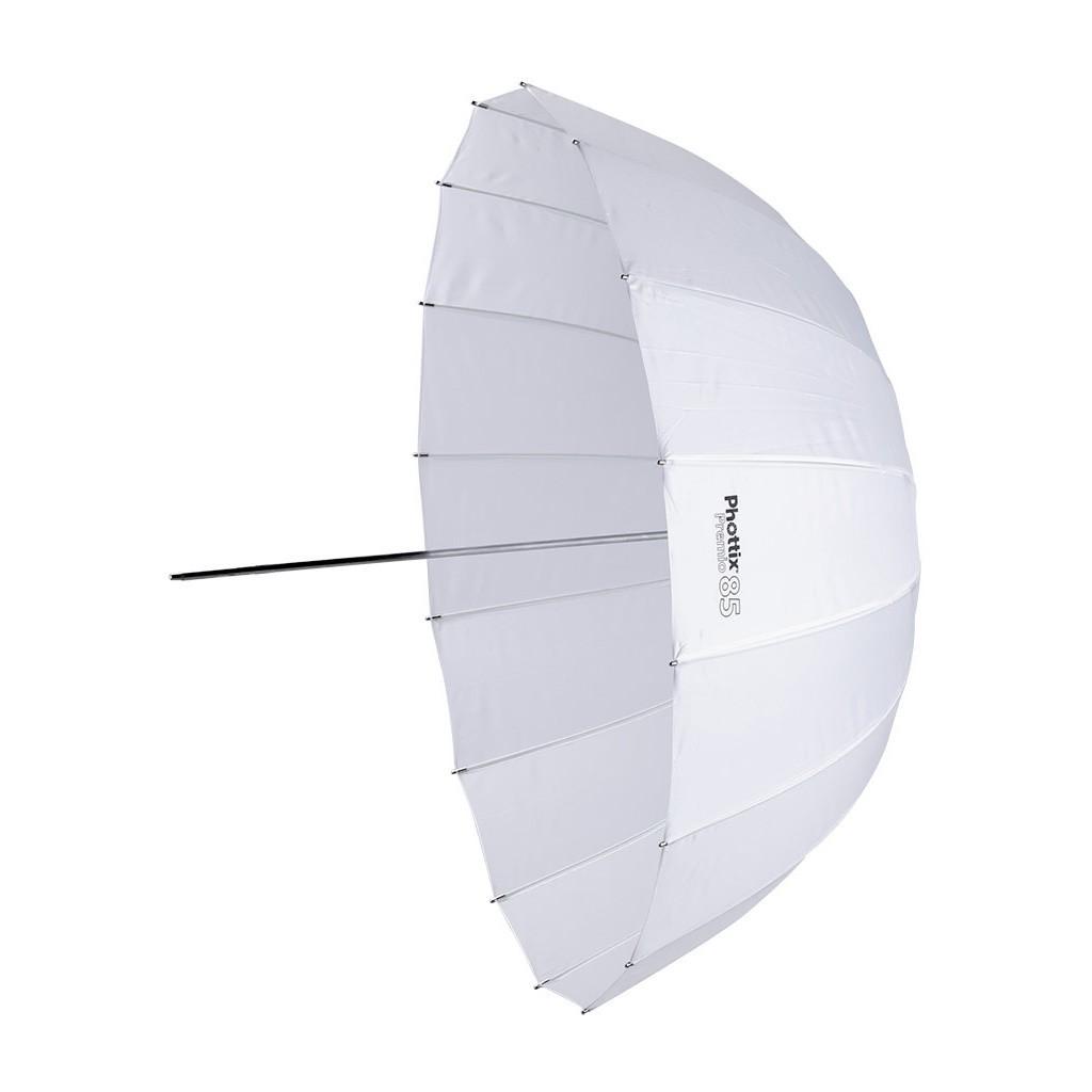 Parasolka biała transparentna Phottix Premio 85cm