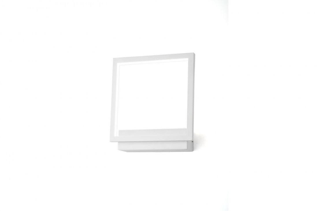 Kinkiet Opera AZ3142 AZzardo kwadratowa biała oprawa ścienna