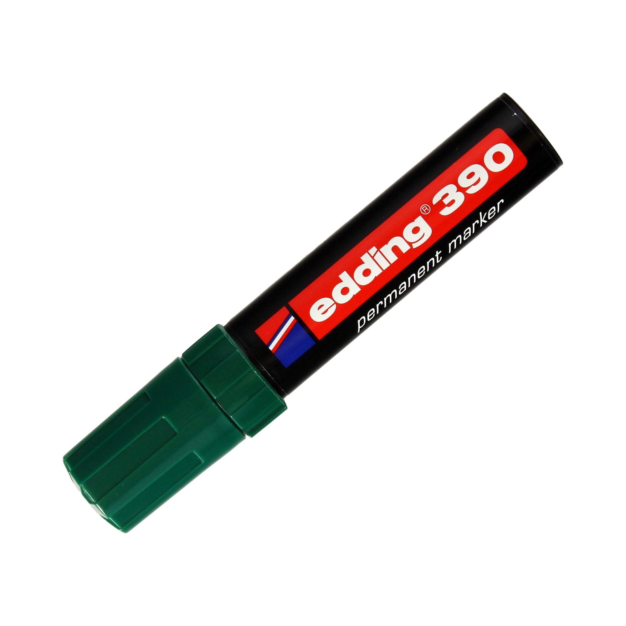 Marker permanentny 4.00-12.00mm zielony ścięty Edding 390