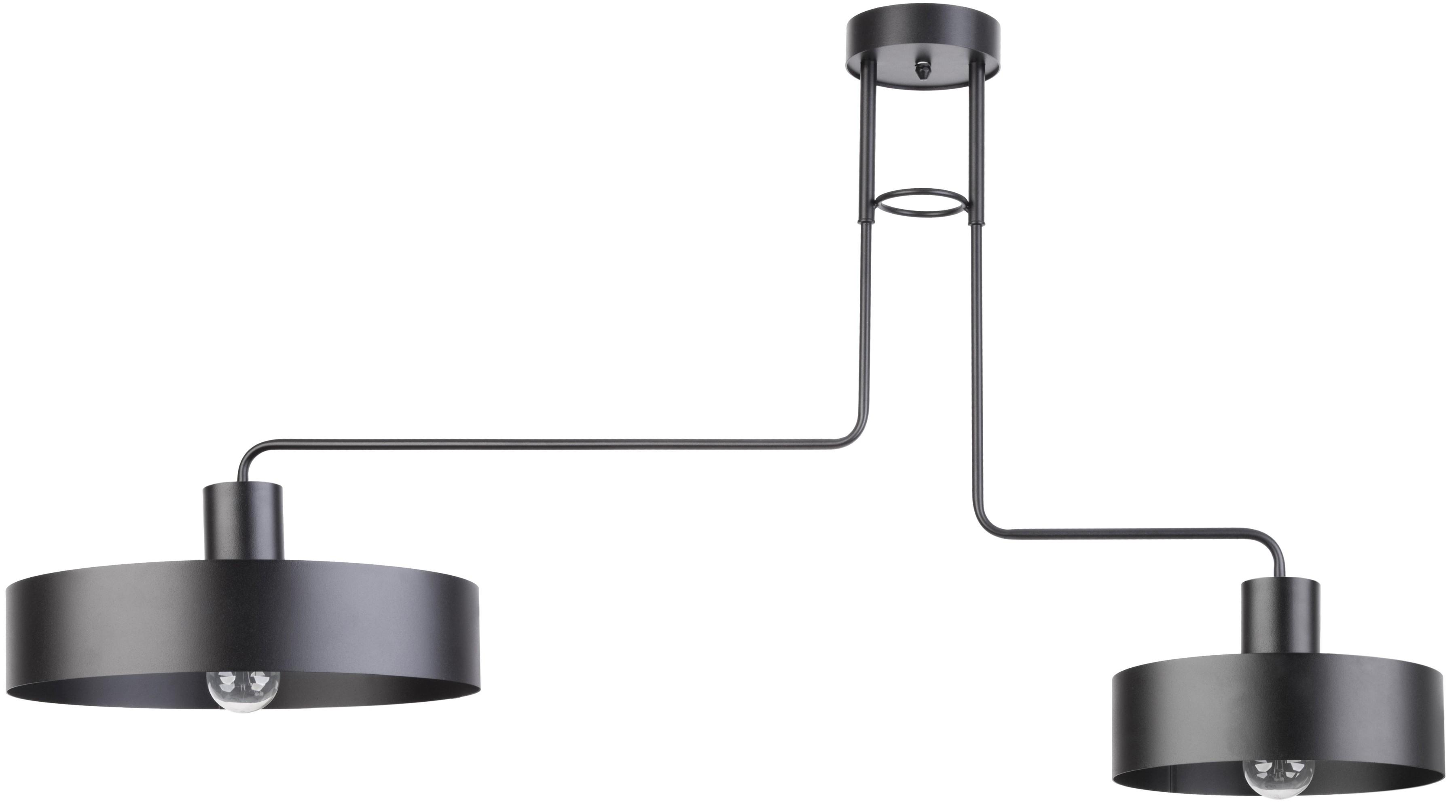 Lampa sufitowa metalowa Vasco nowoczesna 2 punktowa czarna 31551 - Sigma Do -17% rabatu w koszyku i darmowa dostawa od 299zł !
