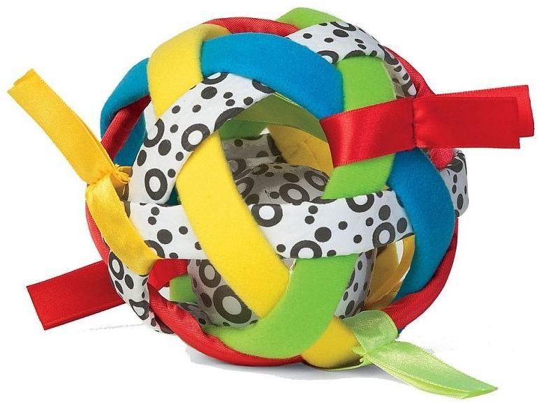 Zabawka dla dzieci, Sensoryczna tęczowa piłka 208130-Manhattan Toy, zabawki dla niemowlaków