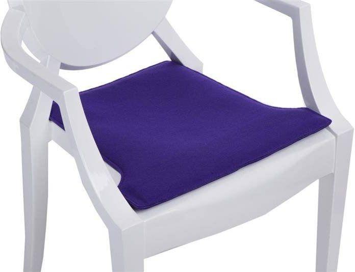 Intesi Royal fioletowa poduszka na krzesło