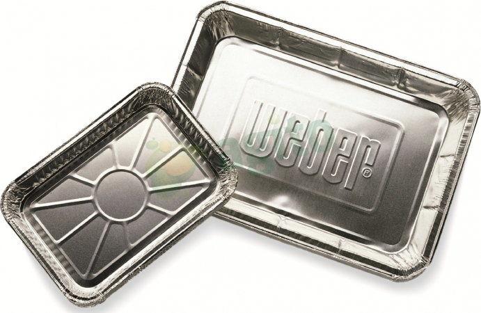 Aluminiowe tacki ociekowe, małe Weber 10 szt. (6415) --- CERTYFIKOWANY PARTNER Weber WORLD
