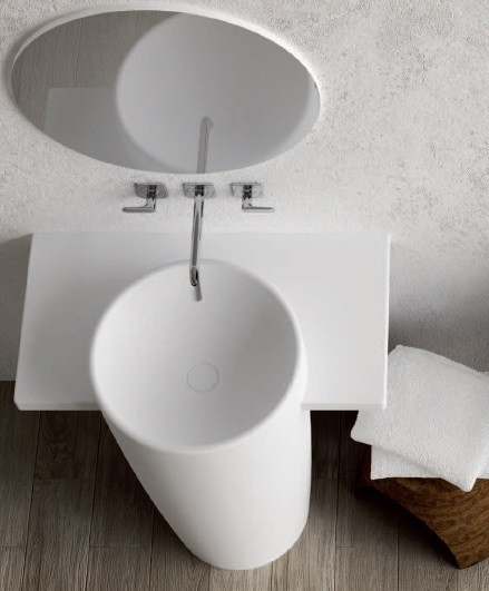 Marmorin umywalka stojąca FEBE bez otworu biała 460090020010 __DARMOWA DOSTAWA__