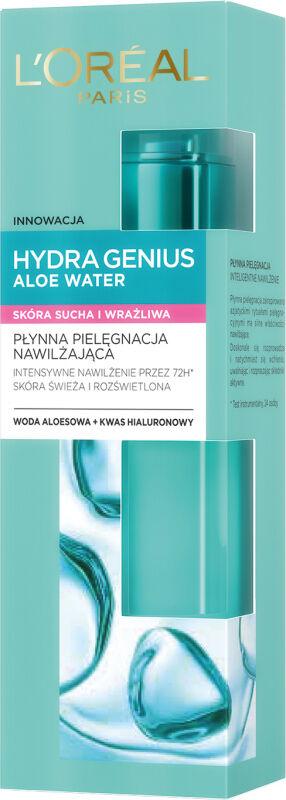 L''Oréal - HYDRA GENIUS ALOE WATER - Płynna pielęgnacja nawilżająca dla cery suchej i wrażliwej - 70 ml