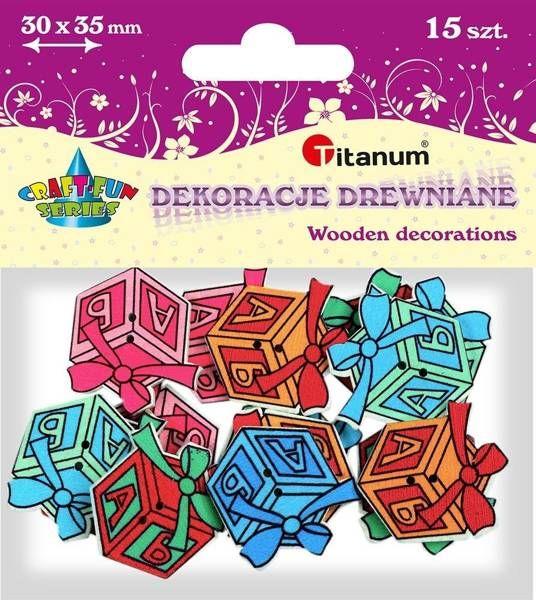 Drewniane guziki Prezenty 15szt - Titanum