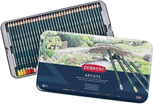 Derwent, 36 Kredek Derwent Artists do Rysowania i Kolorowania, Metalowe Pudełko (32096)