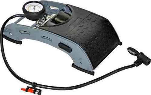 Pompka nożna dwutłokowa z manometrem 7 bar