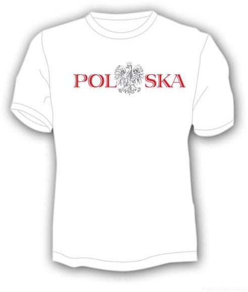 Koszulka Polska napis z orłem