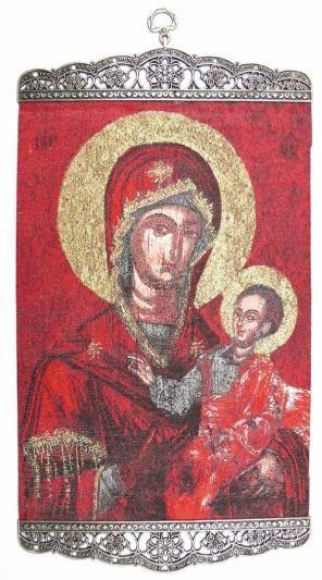 Ikona tkana Matka Boska z Dzieciątkiem