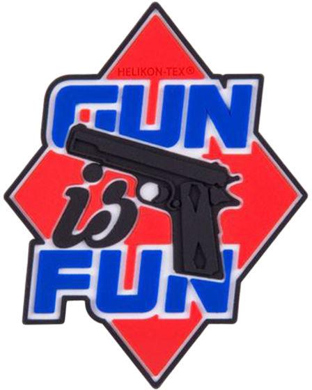 Naszywka Helikon Gun is Fun PVC Red (OD-GIF-RB-25)