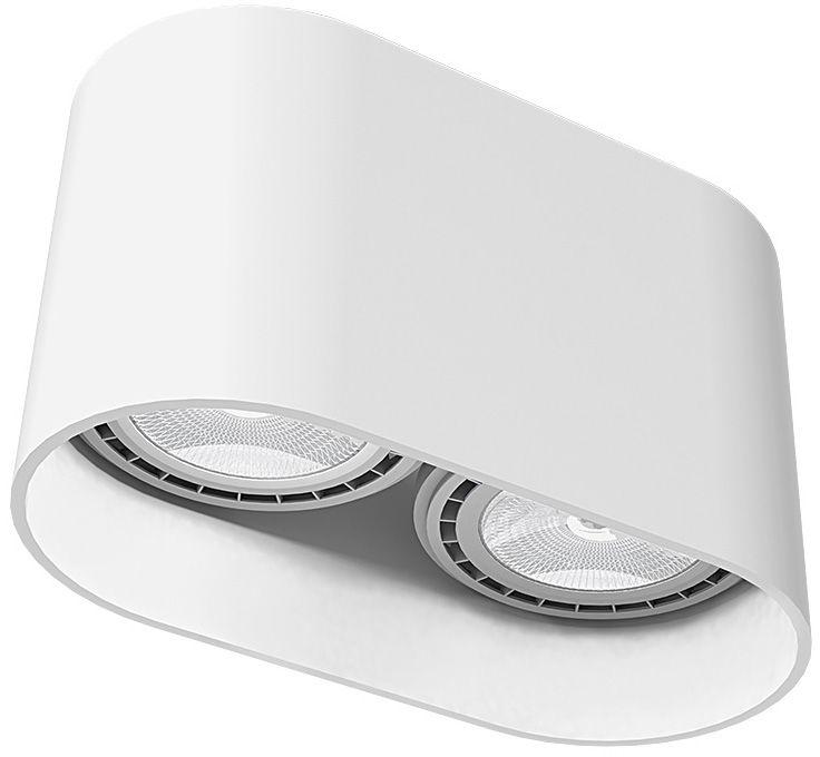 Oprawa natynkowa Oval 9241 Nowodvorski Lighting biała oprawa w nowoczesnym stylu