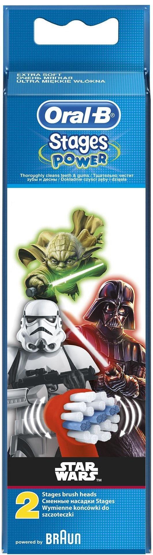 Oral B Stages Power EB10 Star Wars końcówki wymienne do szczoteczki do zębów 2 szt. Extra Soft