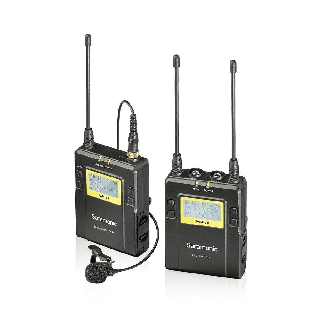 Saramonic UwMic9 Kit 1 (RX9 + TX9) - zestaw bezprzewodowy audio, nadajnik + odbiornik Saramonic UwMic9 Kit 1 (RX9 + TX9)