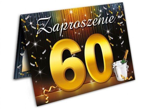 Zaproszenie na 60 urodziny z kopertą 1 sztuka zx6807