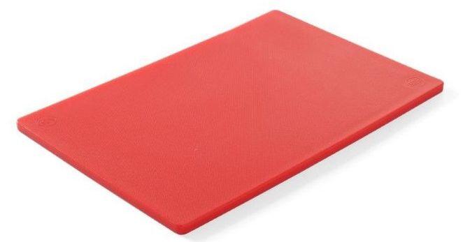 Deska z polietylenu HACCP czerwona