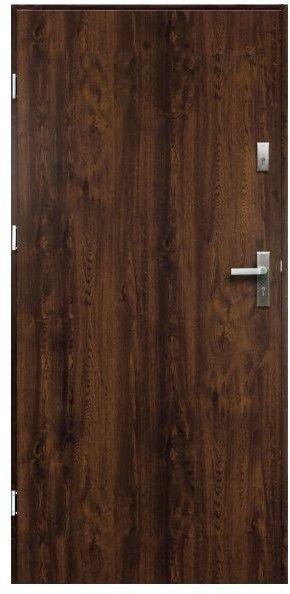 Drzwi zewnętrzne pełne O.K. Doors Artemida P55 80 lewe orzech