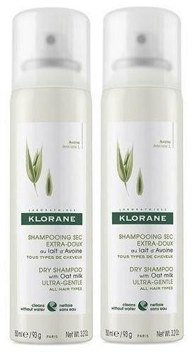 Klorane ultrałagodny szampon suchy na bazie mleczka z owsa do każdego typu włosów 2 x 150 ml