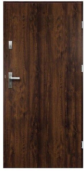 Drzwi zewnętrzne pełne O.K. Doors Artemida P55 80 prawe orzech