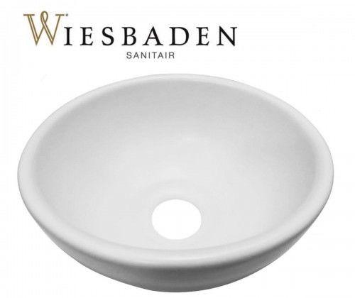 Umywalka nablatowa ceramiczna 20x9 cm biała matowa CONSILIO