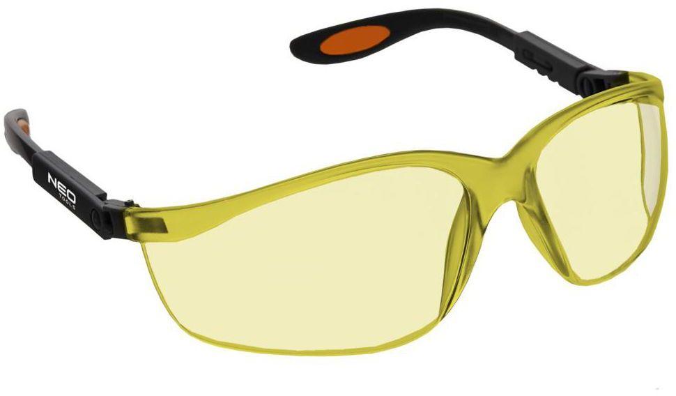 Okulary ochronne z poliwęglanu 97-501 żółte NEO TOOLS