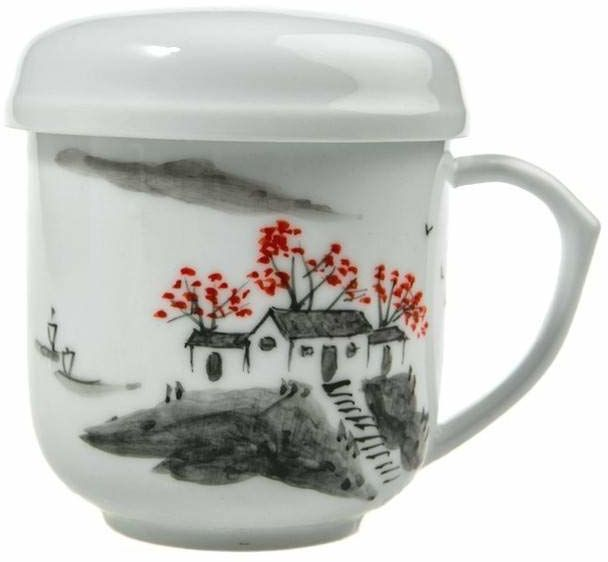 """Lachineuse  filiżanka do herbaty """"Paysis Zen""""  porcelana, ręcznie malowana"""
