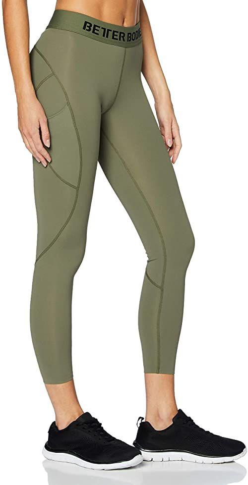 Better Bodies damskie legginsy Highbridge Tights, zielone, M