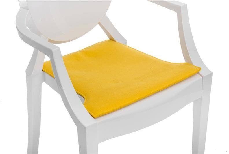 Intesi Royal żółta poduszka na krzesło