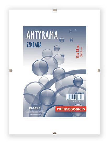 Antyrama szklana MEMOBOARDS 13 X 18 cm - X06209