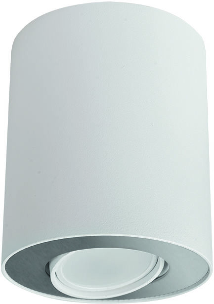 Plafon Set 8897 Nowodvorski Lighting biało-srebrna oprawa w kształcie tuby